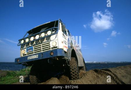 Un heavy duty truck KAMAZ Banque D'Images