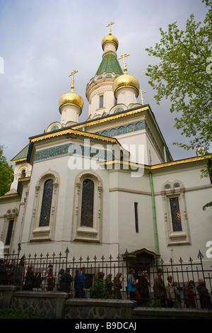 L'église russe Saint-nicolas Solfia Bulgarie Banque D'Images