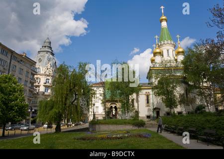 L'église russe Saint-nicolas Sofia Bulgarie Banque D'Images