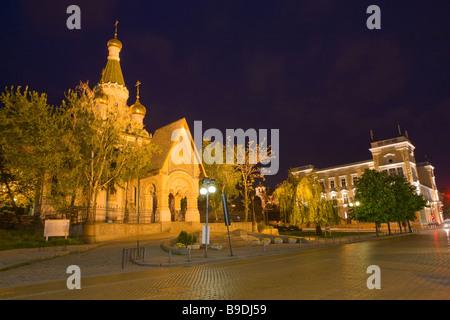 Bulgarie Sofia église russe Saint-nicolas Banque D'Images