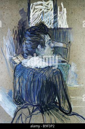 Une femme par la fenêtre par Henri de Toulouse Lautrec 1889 Collection de reproduction de l'État Musée des beaux Banque D'Images