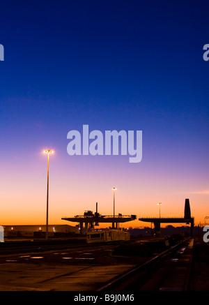 Le Port de Harwich à l'aube, Angleterre, Grande-Bretagne, Europe Banque D'Images