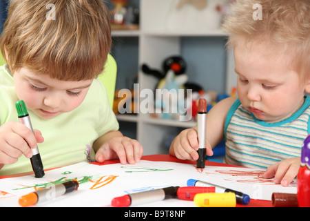 Dessin d'enfants Banque D'Images