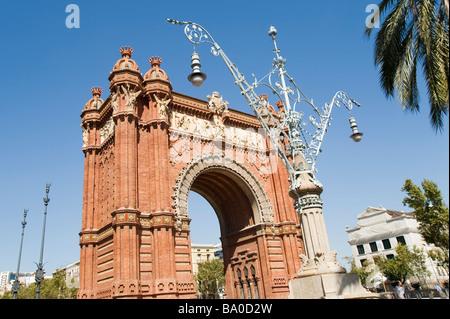 L'arc de triomphe ou arc de triomphe de barcelone catalogne espagne Banque D'Images