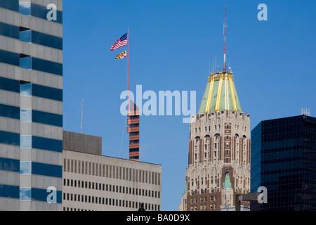 Certains bâtiments à Baltimore Maryland inluding Donald Schaefer Tower Bank of America Building 250 West Pratt Banque D'Images