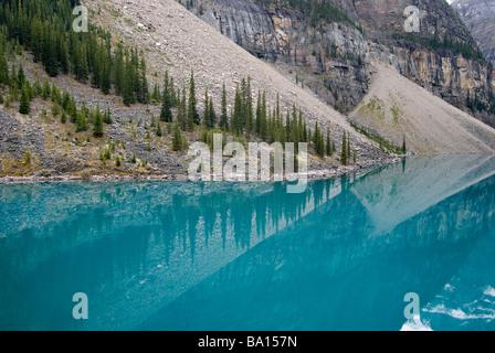 Le lac Moraine, Banff National Park, Alberta, Canada Banque D'Images