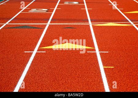 L'image graphique de l'athlétisme et un centre sportif Banque D'Images