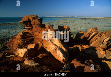 Les rochers à Gantheaume Point, Broome, Australie occidentale, Australie Banque D'Images