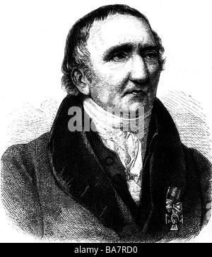 Johann Gottfried Schadow,, 20.5.1764 - 27.1.1850, sculpteur allemand, portrait, gravure, 19ème siècle, , Additional Banque D'Images