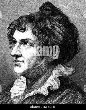 Schlegel,, 24.10.1763 - 3.8.1839, l'auteur allemand / écrivain, épouse de Friedrich Schlegel, portrait, gravure Banque D'Images