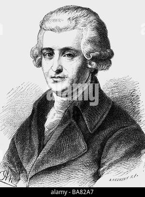 Haydn, Joseph, 31.3.1732 - 31.5.1809, compositeur autrichien, portrait, gravure sur bois, XIXe siècle, Banque D'Images