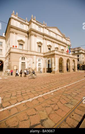 L'opéra La Scala, Milan, Italie. Banque D'Images