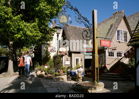 United States, California, Carmel-by-the-Sea, la Cour du Golden Bough, shopping mall Banque D'Images