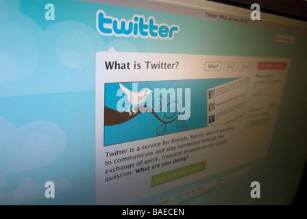 Le populaire site de réseautage social Twitter le mardi 7 avril 2009 Richard B Levine Banque D'Images