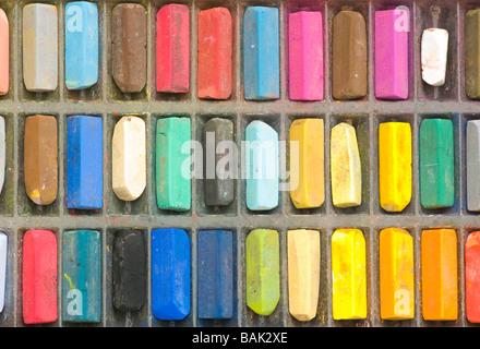 Les artistes de couleur Pastels Pastels Banque D'Images