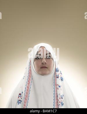 Portrait d'une jeune femme musulmane
