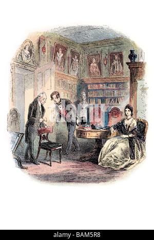 Le vieil homme du nom de tulkinghorn Bleak House est le neuvième roman de Charles Dickens publié dans vingt des Banque D'Images
