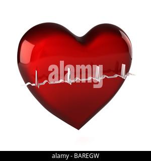 Coeur en santé Banque D'Images