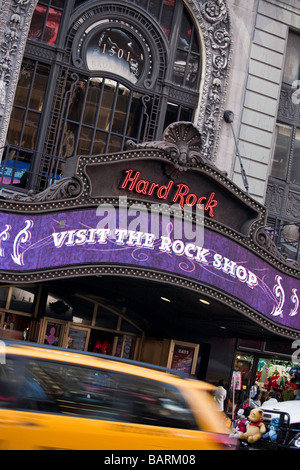 Hard Rock Cafe, Times Square, NYC Banque D'Images