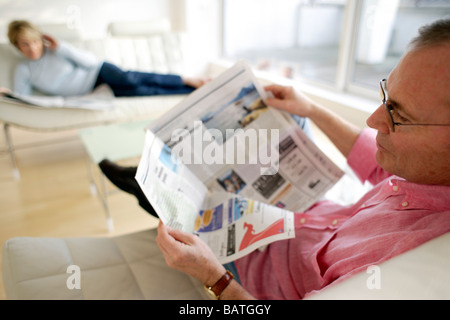 Couple relaxing. Banque D'Images