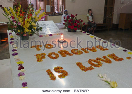 Mère Teresa de Calcutta Inde calcutta tombe Banque D'Images