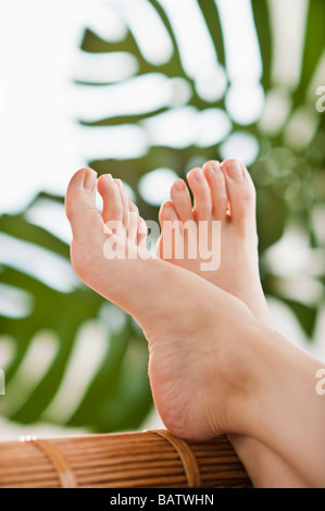 Close-up of woman's hands et pieds
