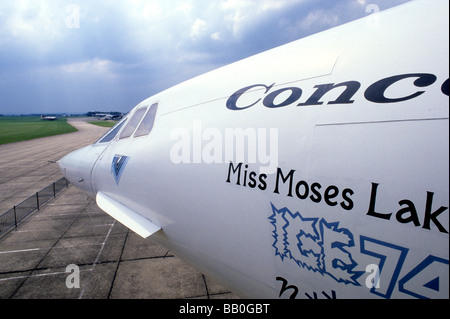 Concord Concorde avion avion vol d'un avion Air Museum Duxford Cambridgeshire pièce East Anglia Angleterre UK Banque D'Images