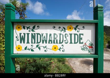 Saba Windwardside Banque D'Images