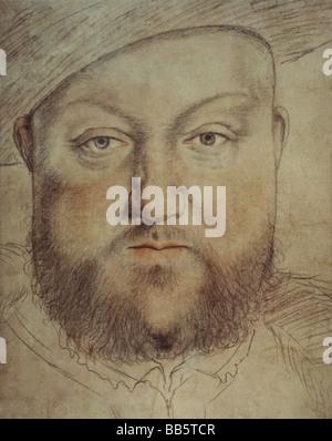 Henry VIII, 28.6.1491 - 28.1.1547, le roi d'Angleterre depuis 1509, portrait, peinture de Hans Holbein le Jeune Banque D'Images