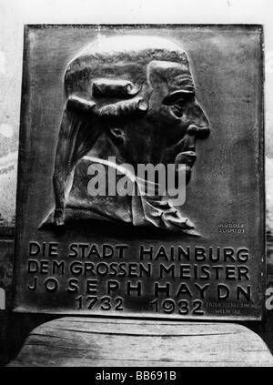 Haydn, Joseph, 31.3.1732 - 31.5.1809, compositeur autrichien, plaque de commémoration, secours de Rudolf, Banque D'Images