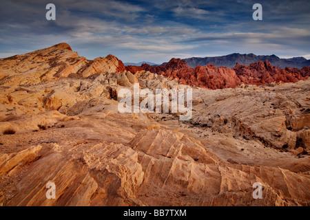 La vallée de feu près de Las Vegas au Nevada USA Banque D'Images