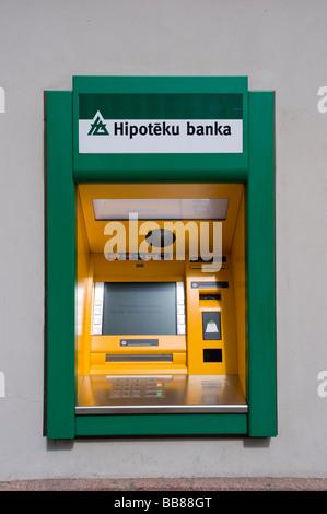 Machine ATM, Riga, Lettonie, Pays Baltes
