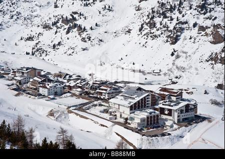 Cabourg, station de ski, la vallée Ötztal, Tyrol, Autriche Banque D'Images