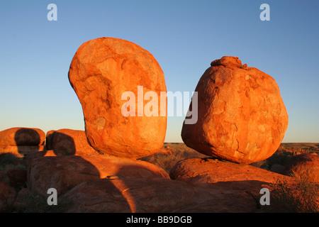 Devils Marbles, Australie Banque D'Images