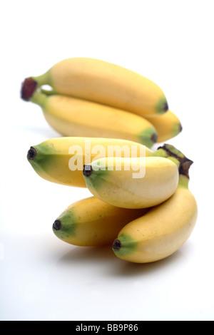 Fruits frais banane bébé Banque D'Images