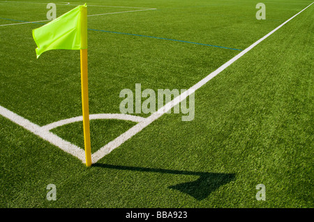 Pavillon d'angle dans un stade de football