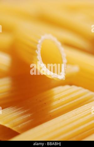 Close up de pâtes alimentaires non cuites