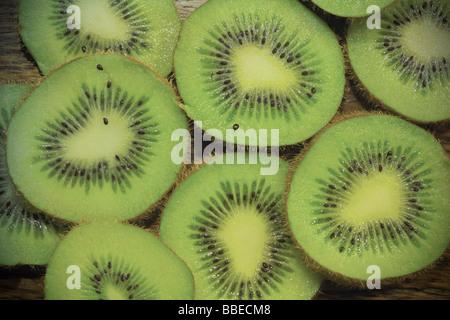 Close-up de tranches de kiwi
