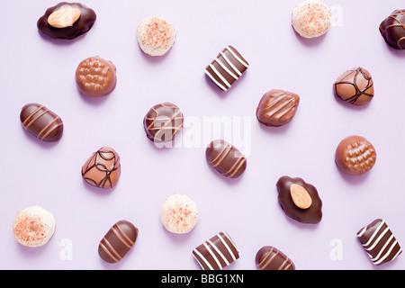 Chocolats Banque D'Images