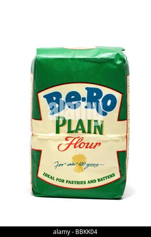 Sachet de 500g de farine ordinaire Be-Ro Banque D'Images