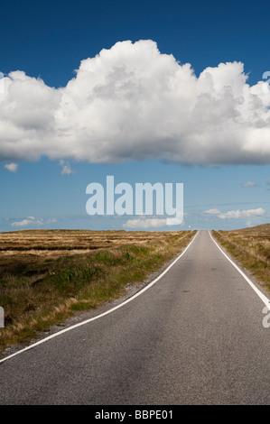 Caribou road, Uist, Hébrides extérieures, en Écosse Banque D'Images