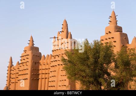 Grande Mosquée de Djenné, Mopti, Djenné, région du Delta Intérieur du Niger, Mali, Afrique de l'Ouest Banque D'Images