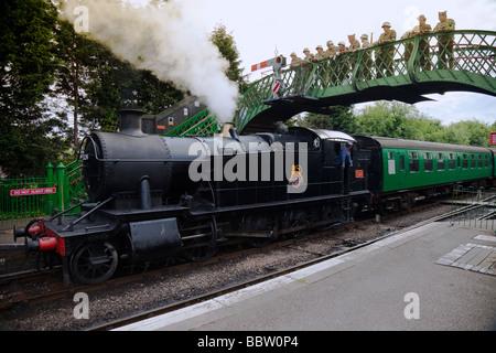 D-Day, New Alresford Reactment Alresford Station sur le chemin de fer AreaCity mi- Hants de Winchester coordonne51.0878°N 1.15 Banque D'Images