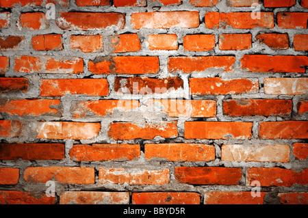 Mur de brique libre Banque D'Images