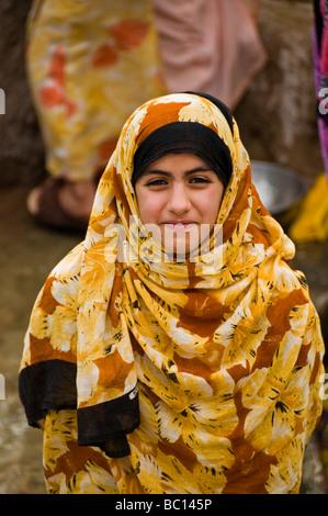 Al-Jabal Al-Akhdar Local girl dans le Sultanat d'Oman Banque D'Images
