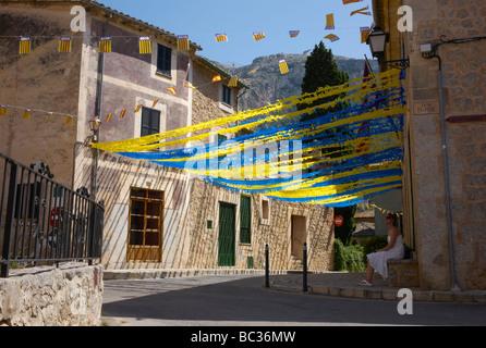 Le village de Deià à Mallorca, Espagne Banque D'Images