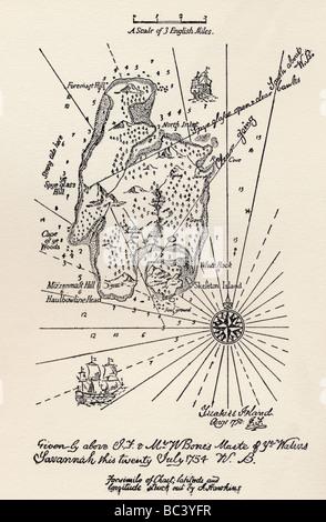 Plan de l'île au trésor.