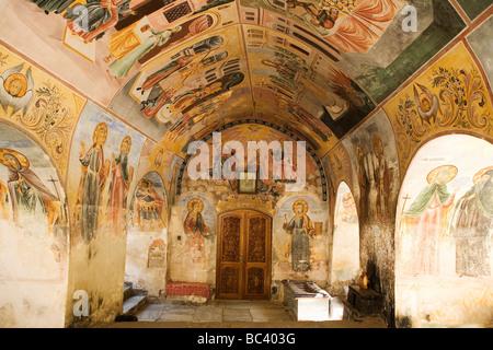 Bulgarie - Rhodopes - Région du Nord-Ouest - Environ Plovdiv - Batchkovo Monastery - des fresques Banque D'Images