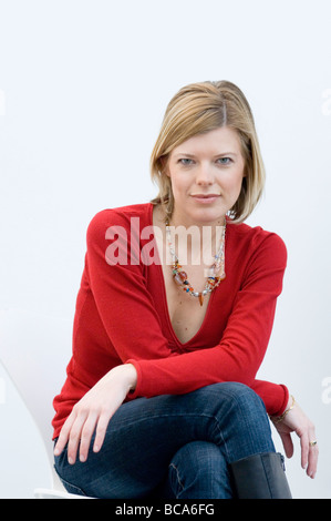 Femme en rouge, Munich, Allemagne