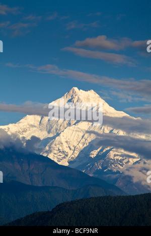L'Inde, le Sikkim, Gangtok, vue de Kanchenjunga, Kangchendzonga vont de Ganesh Tok Banque D'Images